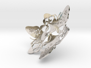 Butterfly Bowl 1 - d=9cm in Rhodium Plated Brass