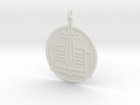 History Symbol in White Natural Versatile Plastic