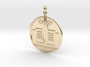 History Symbol in 14k Gold Plated Brass