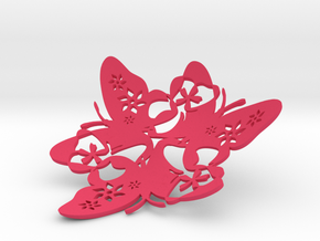 Butterfly Bowl 1 - d=11cm in Pink Strong & Flexible Polished