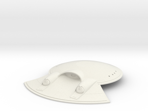 Saucer-Mounted Deflector for 1:350 Refit in White Natural Versatile Plastic