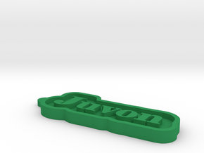 Juvon Name Tag in Green Processed Versatile Plastic