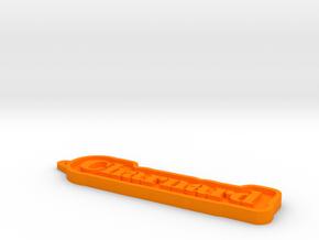 Charnard Name Tag in Orange Processed Versatile Plastic