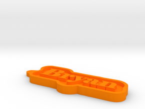 Bryan Name Tag in Orange Processed Versatile Plastic