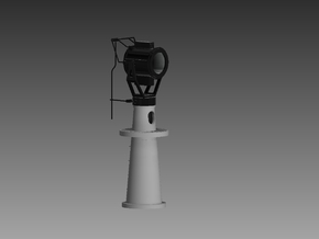 20 Inch Searchlight and base 1/48 in Smooth Fine Detail Plastic