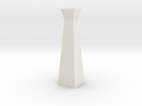 GeoVase Large in White Natural Versatile Plastic