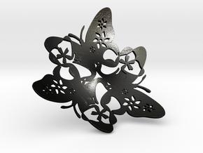 Butterfly Bowl 1 - d=32cm in Matte Black Steel