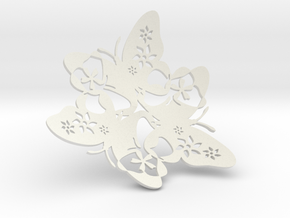 Butterfly Bowl 1 - d=32cm in White Natural Versatile Plastic