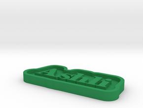 Ashli Name Tag in Green Processed Versatile Plastic