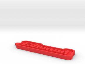 Edmund Name Tag in Red Processed Versatile Plastic