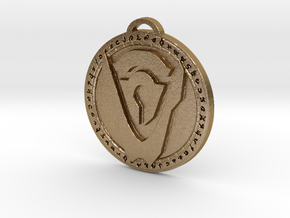 Hand of Argus Faction Medallion in Polished Gold Steel