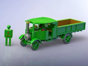 Foden Steam Lorry 1916 1/285 in Smooth Fine Detail Plastic