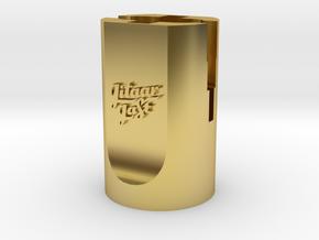 DunIop Guitar String Winder Head in Polished Brass (Interlocking Parts)