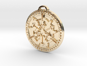 Warrior Class Medallion in 14k Gold Plated Brass