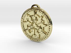 Warrior Class Medallion in 18K Yellow Gold