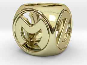 Master D6 in 18k Gold Plated Brass