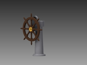 Ships wheel and post 1/48 in Smooth Fine Detail Plastic