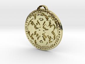 Warlock Class Medallion in 18K Yellow Gold
