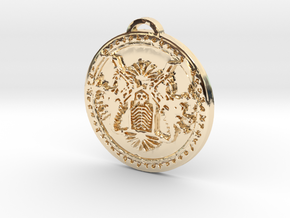 Death Knight Class Medallion in 14k Gold Plated Brass