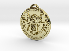 Death Knight Class Medallion in 18K Yellow Gold