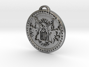 Death Knight Class Medallion in Natural Silver
