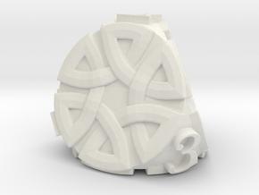 Celtic D4 Alternative - Solid Centre for Plastic in White Natural Versatile Plastic
