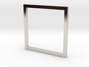 Square 14.05mm in Platinum