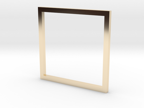 Square 14.86mm in 14K Yellow Gold