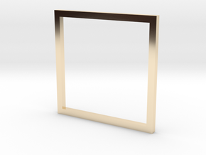 Square 15.27mm in 14K Yellow Gold