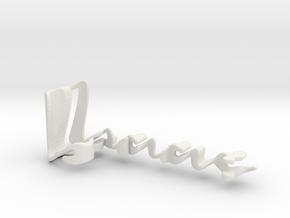 3dWordFlip: Isaac/Sami in White Natural Versatile Plastic