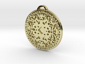 Shaman Class Medallion in 18K Yellow Gold