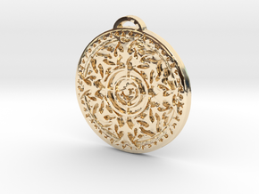Hunter Class Medallion in 14k Gold Plated Brass
