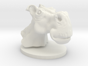 Horse head toon in White Natural Versatile Plastic