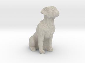 Boxer dog in Natural Sandstone