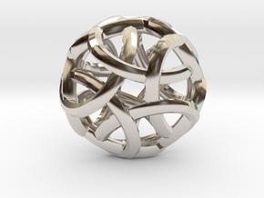Pentabraid Pendant in Platinum