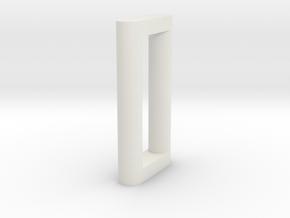 N Scale Bridge Pier #6 H66 in White Natural Versatile Plastic