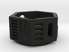 1-Crossguard-2.0 (Korbanth) Part-1 in Black Natural Versatile Plastic