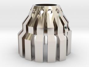 1-Crossguard-2.0 (Korbanth) Part-7 in Rhodium Plated Brass