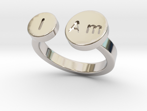 Small I Am Ring - New in Rhodium Plated Brass: 5 / 49