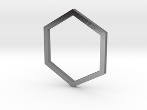 Hexagon 12.37mm in Polished Silver