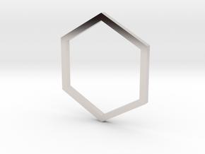 Hexagon 13.21mm in Platinum