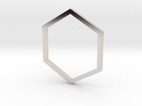 Hexagon 14.05mm in Platinum