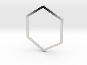 Hexagon 18.53mm in Platinum