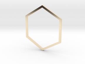 Hexagon 19.41mm in 14K Yellow Gold