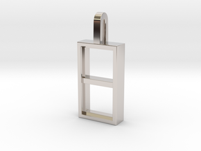 Window in Rhodium Plated Brass
