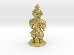 Dogū statue in Natural Brass
