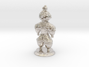 Dogū statue in Rhodium Plated Brass