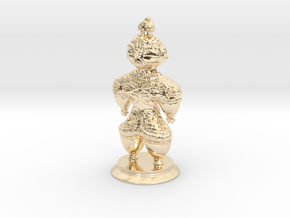 Dogū statue in 14k Gold Plated Brass