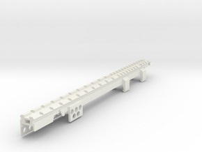 G3 SAS Full Rail with Rear Sight Replacement in White Natural Versatile Plastic