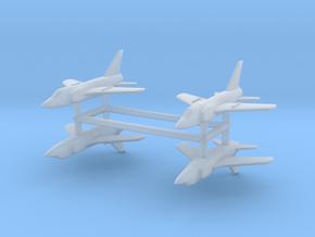 1/700 Grumman F-11 Tiger (x4) in Smooth Fine Detail Plastic